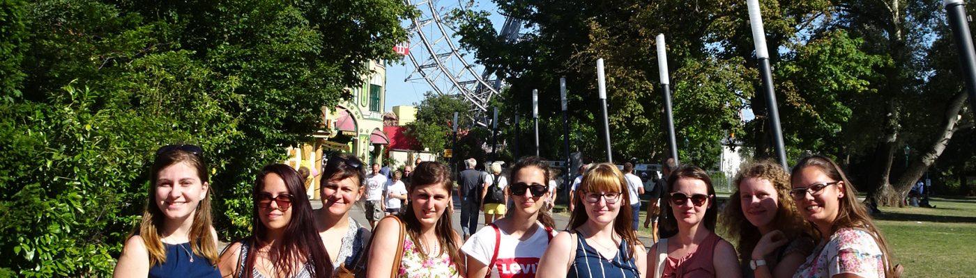 Studierende beim Ausflug in Wien